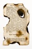 τα βιβλία έκαψαν την παλαιά & Στοκ φωτογραφία με δικαίωμα ελεύθερης χρήσης