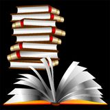 τα βιβλία βιβλίων άνοιξαν τ&o Στοκ Εικόνες