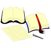 τα βιβλία βρίσκονται κον&tau Στοκ φωτογραφία με δικαίωμα ελεύθερης χρήσης