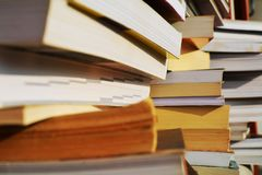 Τα βιβλία και τα σημειωματάρια, κλείνουν επάνω Στοκ Εικόνα