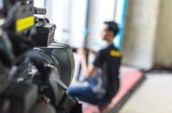 Τα βιντεοκάμερα έχουν την εστίαση Στοκ Εικόνες