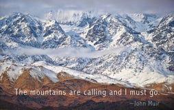 Τα βουνά καλούν Στοκ φωτογραφία με δικαίωμα ελεύθερης χρήσης