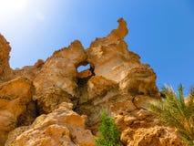 Τα βουνά οξύνουν στην παραλία Sheikh Sharm EL, Αίγυπτος Στοκ Εικόνες
