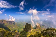 τα βουνά της Αιθιοπίας στοκ εικόνες