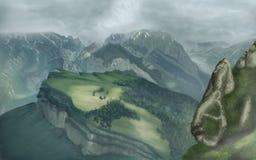 Τα βουνά της Misty Στοκ φωτογραφία με δικαίωμα ελεύθερης χρήσης