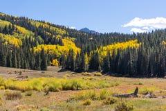 Τα βουνά του San Juan του Κολοράντο το φθινόπωρο στοκ εικόνες με δικαίωμα ελεύθερης χρήσης