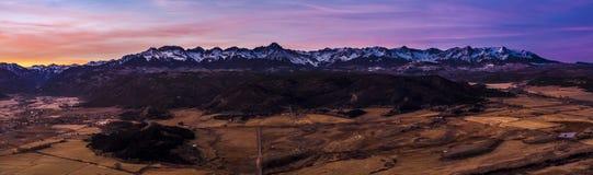 Τα βουνά του San Juan στο Ντάλλας διαιρούν Στοκ εικόνα με δικαίωμα ελεύθερης χρήσης
