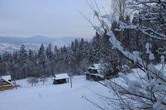 Τα βουνά το χειμώνα carpathians Στοκ φωτογραφία με δικαίωμα ελεύθερης χρήσης