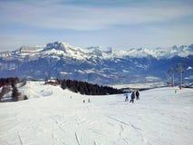 Τα βουνά Megeve, Γαλλία στοκ εικόνες