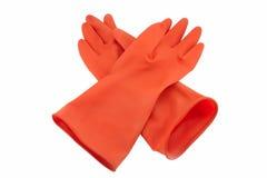 τα γάντια ανασκόπησης απομόνωσαν το λαστιχένιο λευκό Στοκ φωτογραφίες με δικαίωμα ελεύθερης χρήσης