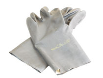 τα γάντια ανασκόπησης απομόνωσαν το λαστιχένιο λευκό Στοκ εικόνες με δικαίωμα ελεύθερης χρήσης
