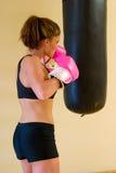 τα γάντια 1 οδοντώνουν punching Στοκ φωτογραφία με δικαίωμα ελεύθερης χρήσης