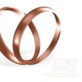Τα γαμήλια δαχτυλίδια αυξήθηκαν χρυσός με το σπινθήρισμα που το μισό στρογγυλό ύφος συνθέτει Στοκ φωτογραφία με δικαίωμα ελεύθερης χρήσης
