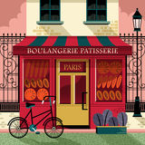 Τα γαλλικά ψήνουν το κατάστημα διανυσματική απεικόνιση