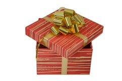 Τα γενέθλια, κιβώτιο, γιορτάζουν, εορτασμός, Χριστούγεννα, δώρο Χριστουγέννων, δώρο, giftbox, που απομονώνεται Στοκ εικόνα με δικαίωμα ελεύθερης χρήσης
