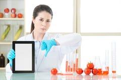 Τα γενετικά τρόφιμα τροποποίησης είναι κακά για τις ανθρώπινες υγείες Στοκ Εικόνες
