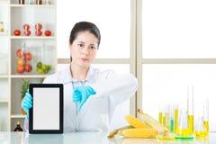 Τα γενετικά τρόφιμα τροποποίησης είναι κακά για τις ανθρώπινες υγείες Στοκ φωτογραφίες με δικαίωμα ελεύθερης χρήσης