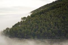 Τα γκρίζες σύννεφα και οι ομίχλες κάνουν την τέλεια σύσταση στοκ εικόνα