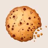 Τα γλυκά μπισκότα τσιπ choco με τη σοκολάτα διαστίζουν τη διανυσματική απεικόνιση Στοκ Φωτογραφίες