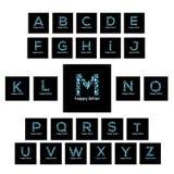 Τα γράμματα της αλφαβήτου ποτίζουν το διανυσματικό λογότυπο φυσαλίδων Στοκ εικόνα με δικαίωμα ελεύθερης χρήσης