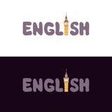 Τα γράφοντας αγγλικά Στοκ φωτογραφία με δικαίωμα ελεύθερης χρήσης