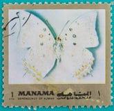 Τα γραμματόσημα ήταν τυπωμένων στα Ηνωμένα Αραβικά Εμιράτα Στοκ Φωτογραφίες