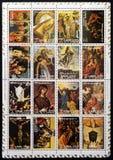 Τα γραμματόσημα συλλογής που τυπώνονται Φ στο εμιράτο Ajman εμφανίζουν στοκ φωτογραφία με δικαίωμα ελεύθερης χρήσης