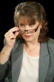 τα γυαλιά επιχειρηματιών & Στοκ φωτογραφία με δικαίωμα ελεύθερης χρήσης