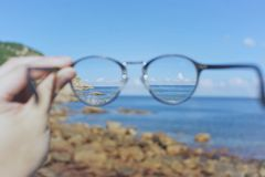 Τα γυαλιά μου η ζωή μου στοκ φωτογραφία με δικαίωμα ελεύθερης χρήσης