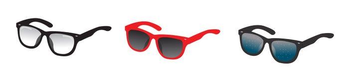 Τα γυαλιά σκιαγραφούν το διανυσματικό σύνολο Συλλογή του διαφορετικού χρώματος μεταφορτώστε το έτοιμο διάνυσμα εικόνας απεικονίσε απεικόνιση αποθεμάτων