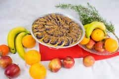 Τα γλυκά έκαναν από την πορφυρή διοσκορέα ένα των Φηληππίνων πιάτο Στοκ Φωτογραφία