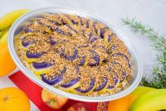 Τα γλυκά έκαναν από την πορφυρή διοσκορέα ένα των Φηληππίνων πιάτο Στοκ φωτογραφίες με δικαίωμα ελεύθερης χρήσης