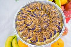 Τα γλυκά έκαναν από την πορφυρή διοσκορέα ένα των Φηληππίνων πιάτο Στοκ εικόνες με δικαίωμα ελεύθερης χρήσης