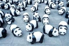 Τα γλυπτά της Panda του χεριού κάνουν Στοκ Εικόνες