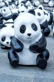 Τα γλυπτά της Panda του χεριού κάνουν Στοκ φωτογραφία με δικαίωμα ελεύθερης χρήσης