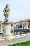 Τα γλυπτά του della Valle, Πάδοβα, Ιταλία Prato Στοκ Εικόνα