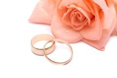 τα δαχτυλίδια αυξήθηκαν γάμος Στοκ εικόνες με δικαίωμα ελεύθερης χρήσης