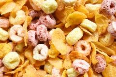 Τα δημητριακά προγευματίζουν ζωηρόχρωμο μίγμα Στοκ Εικόνα
