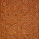 Τα διακοσμητικά σχέδια χάρασαν στο ξύλο, λεπτομέρεια του παλατιού Nasrid, Alhambra, Στοκ Εικόνα