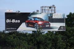 Τα διακριτικά Opel, μεγάλα προσθέτουν υπαίθρια Στοκ Φωτογραφία