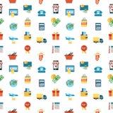 Τα διανυσματικά εικονίδια γραμμών PrintDigital καθορισμένα τις κινητές αγορές Στοκ εικόνες με δικαίωμα ελεύθερης χρήσης