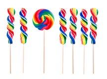 τα διαφορετικά lollipops σκέφτονται Στοκ Εικόνα