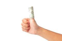 τα δολάρια ανασκόπησης δίνουν το λευκό Στοκ εικόνες με δικαίωμα ελεύθερης χρήσης