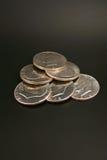 τα δολάρια ασημώνουν έξι Στοκ Φωτογραφίες
