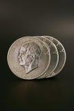 τα δολάρια ασημώνουν τρία στοκ εικόνες με δικαίωμα ελεύθερης χρήσης