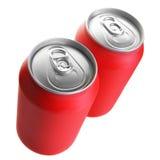 τα δοχεία πίνουν το κόκκινο δύο Στοκ Εικόνα