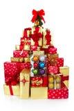 τα δώρα Χριστουγέννων παρουσιάζουν Στοκ Φωτογραφίες