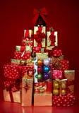 τα δώρα Χριστουγέννων παρουσιάζουν Στοκ εικόνα με δικαίωμα ελεύθερης χρήσης