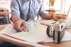 Τα δείγματα χρώματος, swatch χρώματος δείγματα, σύρουν την αρχιτεκτονική, γραφική Στοκ Φωτογραφίες