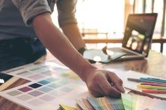 Τα δείγματα χρώματος, swatch χρώματος δείγματα, σύρουν την αρχιτεκτονική, γραφική Στοκ Εικόνα